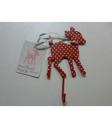 Kapstok Hert Bambi Rood Wit Metaal Babykadowinkel Ukkie Shop