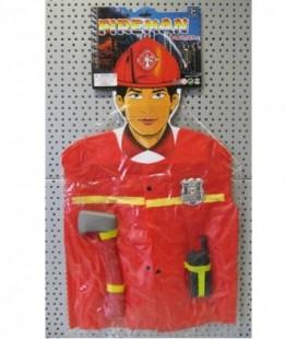 Brandweer kledingset plastic