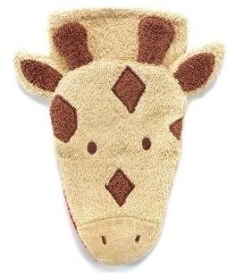Dieren washandje Giraf bruin