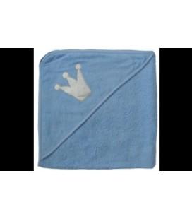 Isi mini - badcape blauw met zilveren kroon