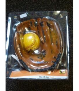 """Honkbal handschoen 9"""" bruin + bal"""