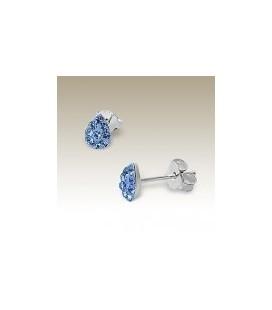 Tiara - Kinder-oorstekers Druppel  blauw