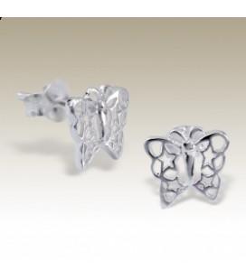 Tiara - zilveren kinderoorbelletjes vlinder