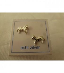 Zilveren oorstekers paard