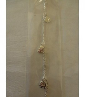 Zilveren armbandje diertjes (egel..)