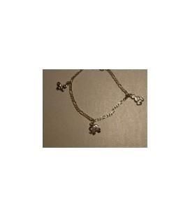 Zilveren armbandje 3 diertjes (Vlinder..)