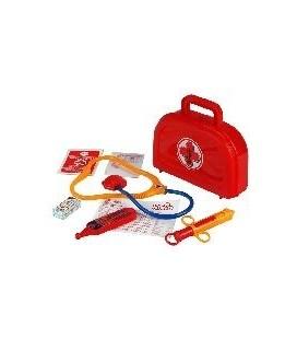 Dokterskoffertje gevuld rood