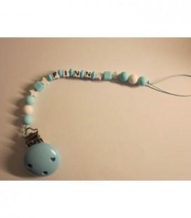 Speen / knuffelkoord baby blauw 2