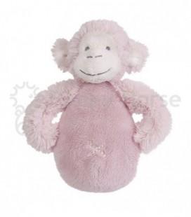 Pink monkey rattle / rammelaar aap roze