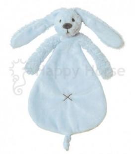 Happy horse Konijn blauwe tutdoek blue rabbit  richie tuttle