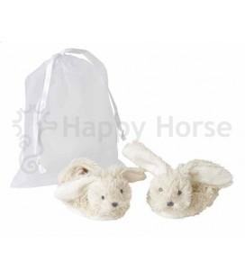 Slofjes wit konijntje Ivory richie