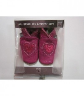 Roze slofjes met hart