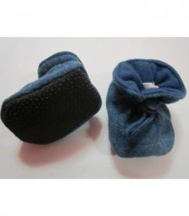 Stoffen babyslof - gemeleerd blauw