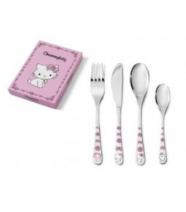 Roze kinder bestek set Charmmykitty