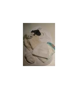 Kraamcadeau / zwangerschaps cadeau grijs wit 02