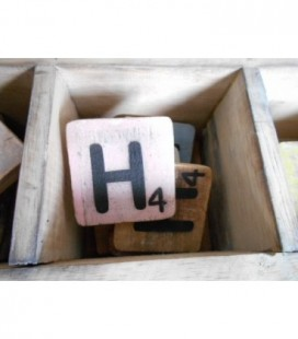 Scrabble letter H