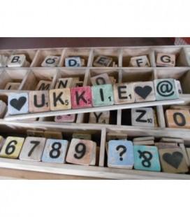 Complete naam bestel-optie scrabble letters