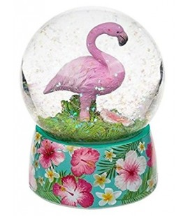 Flamingo snow globe