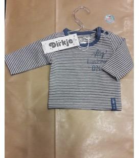 Blauw shirtje streep