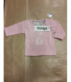 Baby shirt meisje roze konijn