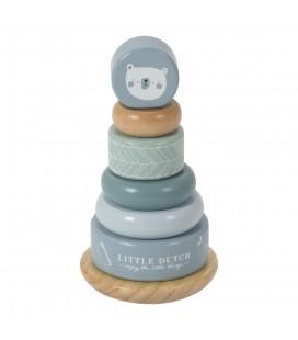 Little Dutch Houten blauwe Tuimelring piramide