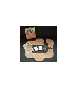 Houten keezbord 4-6 persoons puzzelvorm