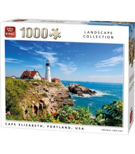 King Puzzel 1000 Stukjes  Cape Elizabeth Portland USA