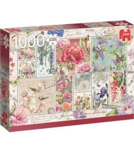 Jumbo puzzel 1000 stuks Flower stamps