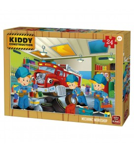 Kiddy puzzel monteur garage - 24 stukjes King International