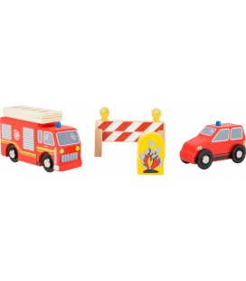 Brandweer set houten speelgoed