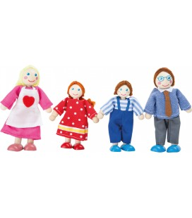 Poppenhuis poppen buigpoppen familie