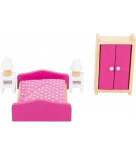 Poppenhuis slaapkamer meubelen