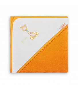 Badcape Girafje Oranje, oranje