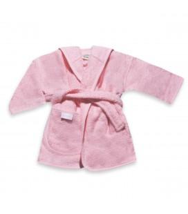 Badjas licht roze / baby roze 0-12 mnd