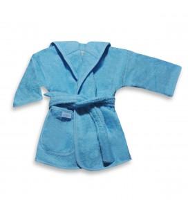 Badjas licht blauw/ baby blauw 0-12 mnd