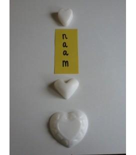 Zeep naamketting Hart met hartjessierrand