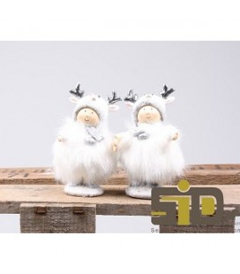 Kind kerst fluffy 6x4,5x10 cm
