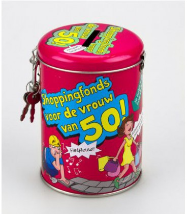 Ongebruikt 50 jaar cadeau sarah spaarpot AE-28