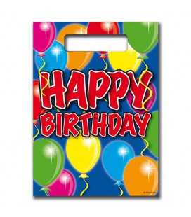 Feestzakjes uitdeelzakjes happy birthday