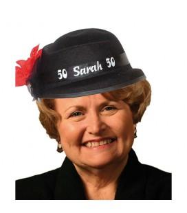 Hoed Sarah 50 jaar met bloem