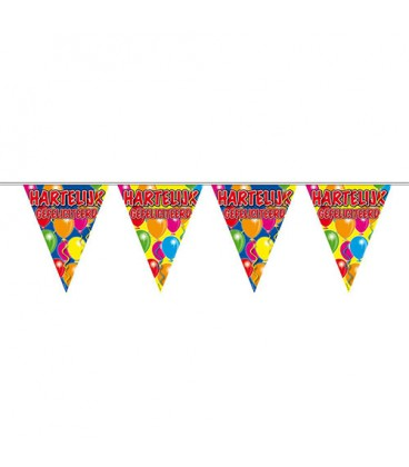 Vlaggenlijn Happy Birthday ballonnen