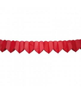 Slinger hartjes rood 6 meter