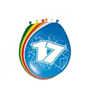 Cijferballon 17 jaar