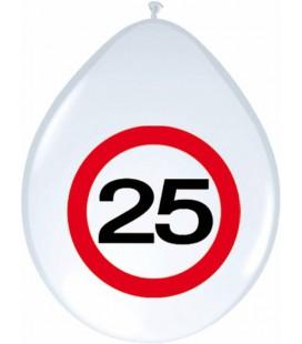 Ballonnen 25  verkeersbord