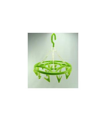 Droogcarrousel met 16 knijpers 30 cm assorti kleuren
