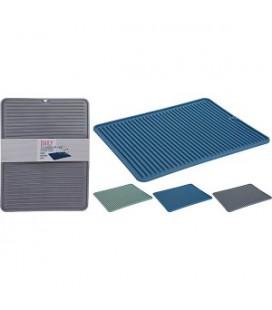 Afdruipmat siliconen 31,5x40 cm assorti kleuren