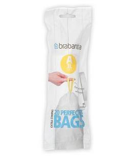 Brabantia afvalzak A 3 liter /20 stuks op rol