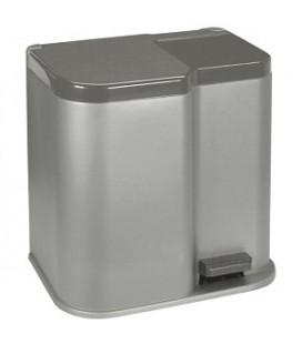 Curver duo pedaalemmer15+ 6 liter zilver/antraciet