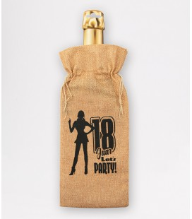 Bottle gift bag -  18 jaar