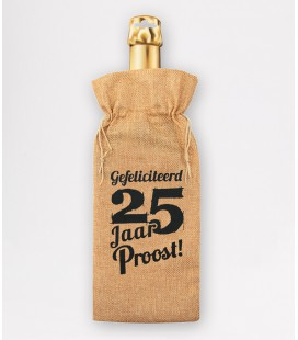 Bottle gift bag -  25 jaar